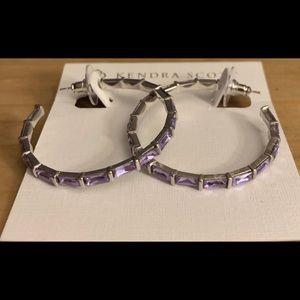 NWT Kendra Scott Veda Hoop Earrings Lilac